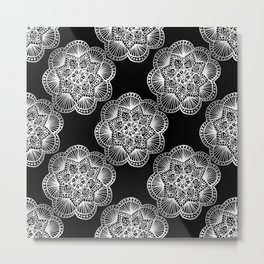 Tangled Mandala Pattern Metal Print