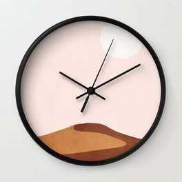 A Lonely Dune Wall Clock