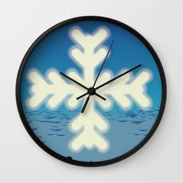 Austria to Ski Wall Clock