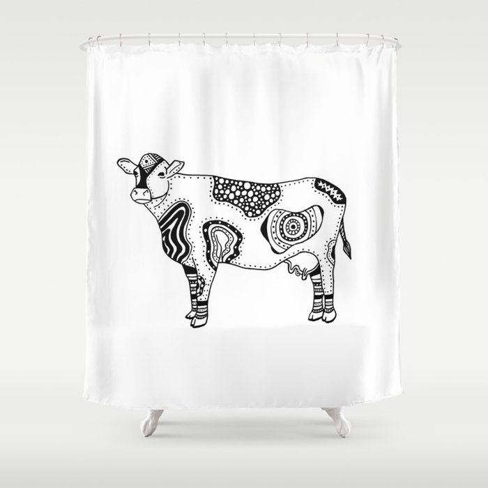 Tattoo Cow Shower Curtain
