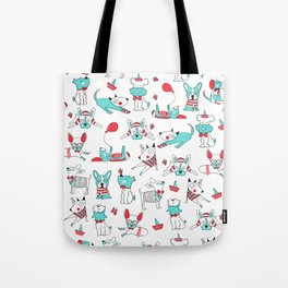 One dog and his friends Tote Bag