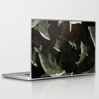 sharks Laptop & iPad Skins featuring sharks by Lara Paulussen