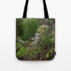 Wall at Church Cove Tote Bag