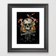 Hard Skull Framed Art Print
