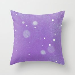 Vintage snow and purple sky Throw Pillow