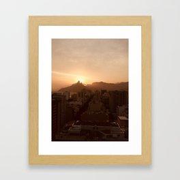 Rio de Janeiro Sunset Framed Art Print