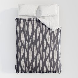 Quail Feathers (Midnight) Duvet Cover