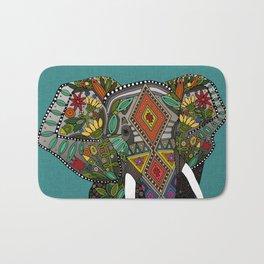 floral elephant teal Bath Mat