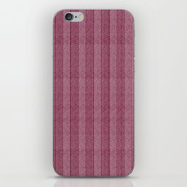 """Pink Vertical Lines Wool Texture"" iPhone Skin"