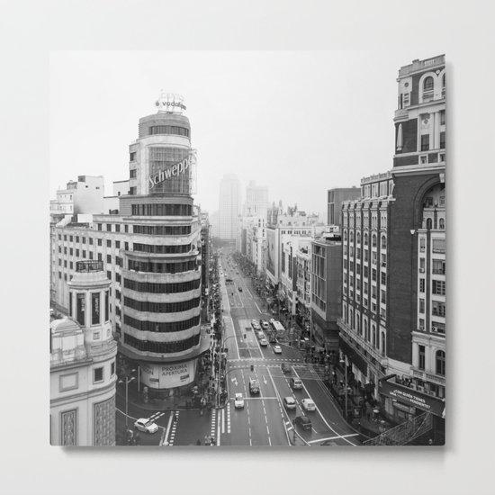 Gran Via in Madrid Metal Print