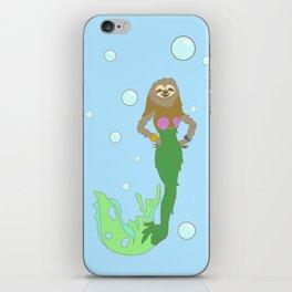 Sloth Mermaid iPhone Skin