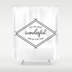 IT'S THE MOST WONDERFUL TIME OF THE YEAR Shower Curtain