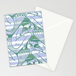 "Koloman (Kolo) Moser ""Textile pattern (Waves)"" (2) Stationery Cards"