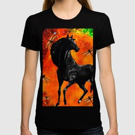 HORSE MOON AND DRAGONFLY VISIONS T-shirt
