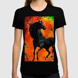 HORSE MOON AND DRAGONFLY VISIONS T-shirt