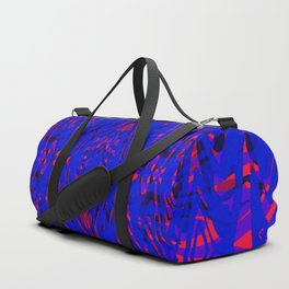 blue on red symmetry Duffle Bag