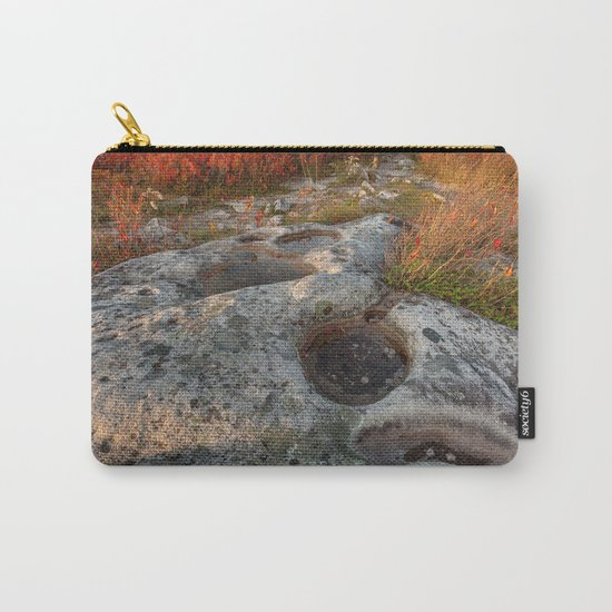 Autumn Huckleberry Fossil Carry-All Pouch