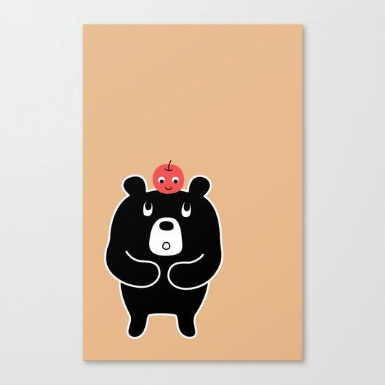 Apple Bear Canvas Print