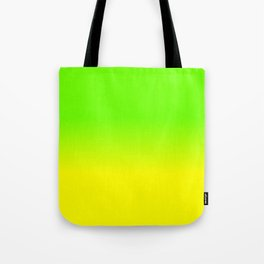 Neon Green and Neon Yellow Ombré  Shade Color Fade Tote Bag