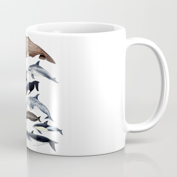 Atlantic whales, dolphins and orca Coffee Mug