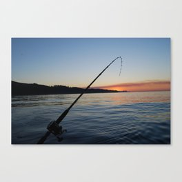 Peaceful Fishing Canvas Print