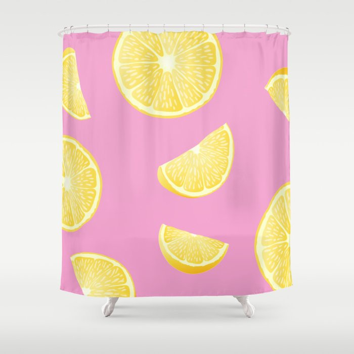 Pull Up With A Lemon Shower Curtain
