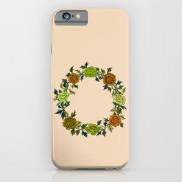 Minhwa: Peony Wreath Green A Type (Korean traditional/folk art)  iPhone Case