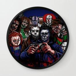 Horror Villains Selfie Wall Clock