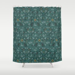 Boats on the Water Pattern Shower Curtain