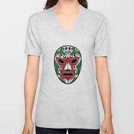 Mexican Wrestling Mask - Color Edition Unisex V-Neck