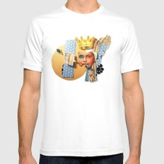 Skin Deep | Collage White MEDIUM Mens Fitted Tee
