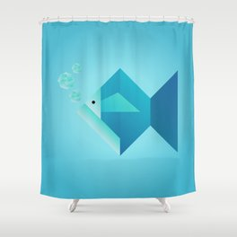 Origami Fish Shower Curtain