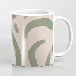 Abstract minimal green pattern, groovy, retro, chic, vintage  Coffee Mug