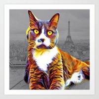 Artsy Cat two Art Print