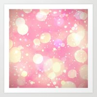 sparkles Art Prints featuring Sparkles by Poppo Inc.