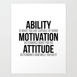 Ability Motivation Attitude, Office Decor, Office Wall Art, Office Art Art Print