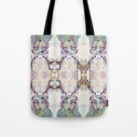 jane davenport Tote Bags featuring Dear Deer (2) by Jane Davenport - by Jane Davenport