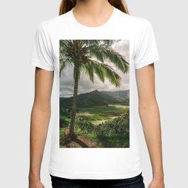 Hanalei Valley Lookout Kauai Hawaii | Tropical Island Nature Coastal Travel Photography Print T-shirt
