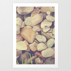 Just a pile of rocks Art Print