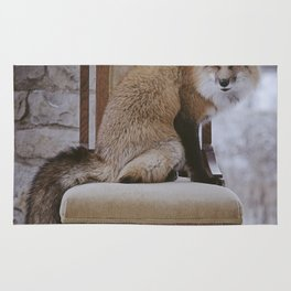 Fox on a Throne Rug