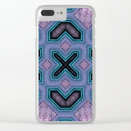 Victorian Art Deco Medieval Pattern colorful SB32 Clear iPhone Case
