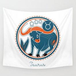 Taurus Zodiac Sign Wall Tapestry