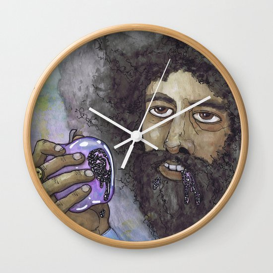 """Reggie Watts"" by Cap Blackard Wall Clock"