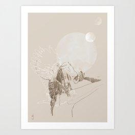 Lunar Thoughts Art Print
