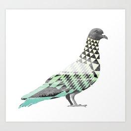 Tessellated Pigeon Art Print