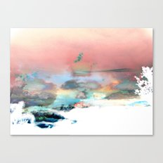 Clouds like Splattered Watercolor Canvas Print