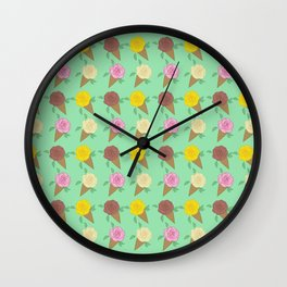 Roses Are Neapolitan Ice Cream Wall Clock