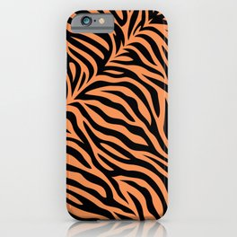 Modern abstract tiger skin illustration pattern iPhone Case
