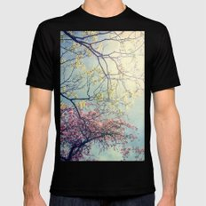 The Song of a Spring Sky Mens Fitted Tee Black MEDIUM