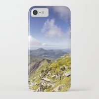 iPhone Cases featuring Snowdon To Anglesey by Ian Mitchell